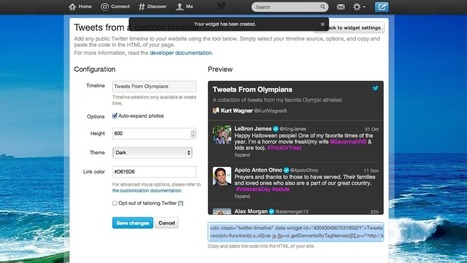 How to Create and Embed Your Own Custom Timeline on Twitter | Digital Culture: Online Communication | Scoop.it