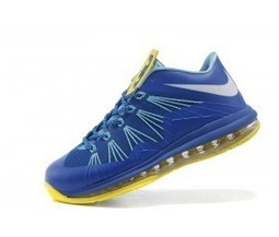 Nike LeBron 10 Low Sprite Treasure Blue White Yellow Cheap for Sale 9b4f1e24f759