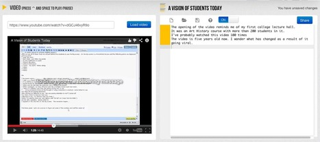 VideoNotes - A Great Tool for Taking Notes While Watching Academic Videos | TEFL & Ed Tech | Scoop.it