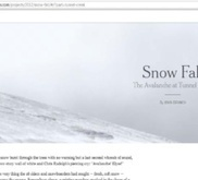 Le New York Times à la pointe du webjournalisme avec « Snow Fall »   Kaleidoscope journalism   Scoop.it