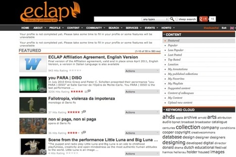ECLAP Connecting stages, Best Practice Network   ECLAP Connecting stages   Video for Learning   Scoop.it