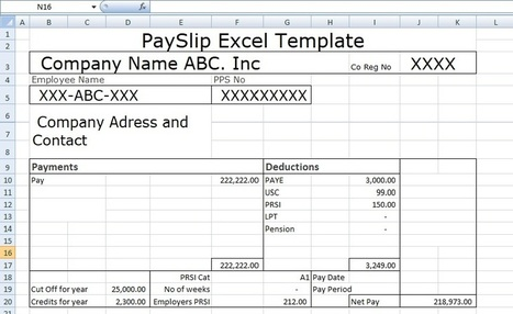 Payslip Template Format In Excel And Word Mic