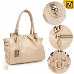 fc6fe3ad69 Women Off White Leather Handbags CW300203 - cwmalls.com