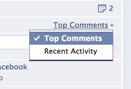 Facebook allows page admins to sort comments chronologically or by activity | robertsbillowy | Scoop.it