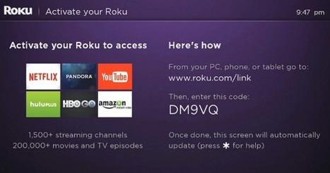 roku com/ link enter activation code' in Nest Cam app for