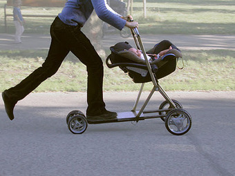 Ta mère en trottinette poussette !!! | Enfant bébé maman | Scoop.it