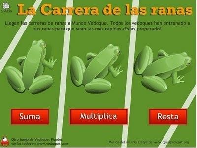 Carrera de ranas - Matemáticas - Primaria - | TIC Educación y Política | Scoop.it