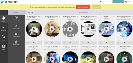 Songdrop - Create your own playlist | Techy Touchy Tools | Scoop.it
