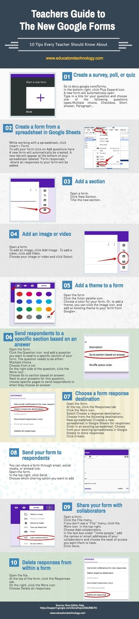 Teachers Visual Guide to The New Google Forms | Using Google Drive in the classroom | Scoop.it