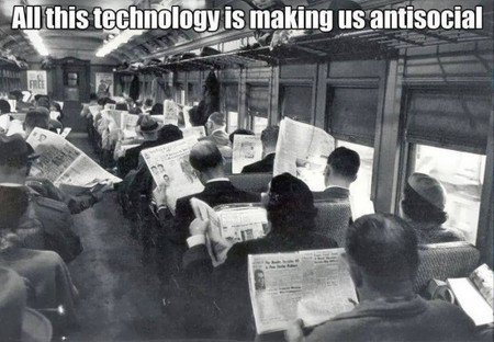 All This Technology Makes Us Anti-Social « NextNature.net | Mediawijsheid ed | Scoop.it