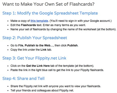 Flippity.net: Easily Turn Google Spreadsheets into Flashcards and Other Cool Stuff | What tool to use for your final project in ESL classes. | Scoop.it