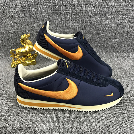 new styles b7f6d 66414 Nike Classic Cortez Nylon Embroidery Dark Blue Orange -  57.95   adidas and nike  shoes online
