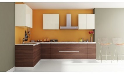 L Shaped Small Modular Kitchen Furniture Design