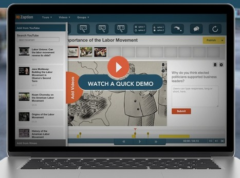 Create Interactive Learning Video Tours With Zaption | Online Video Publishing | Scoop.it