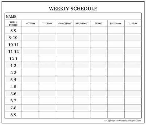 Blank Weekly Calendar In Printable Calendar Scoop It