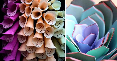 Unusual #Paper #Flower Concepts by Kate Alarcón. #art #paperart #nature | Art-Arte-Cultura | Scoop.it