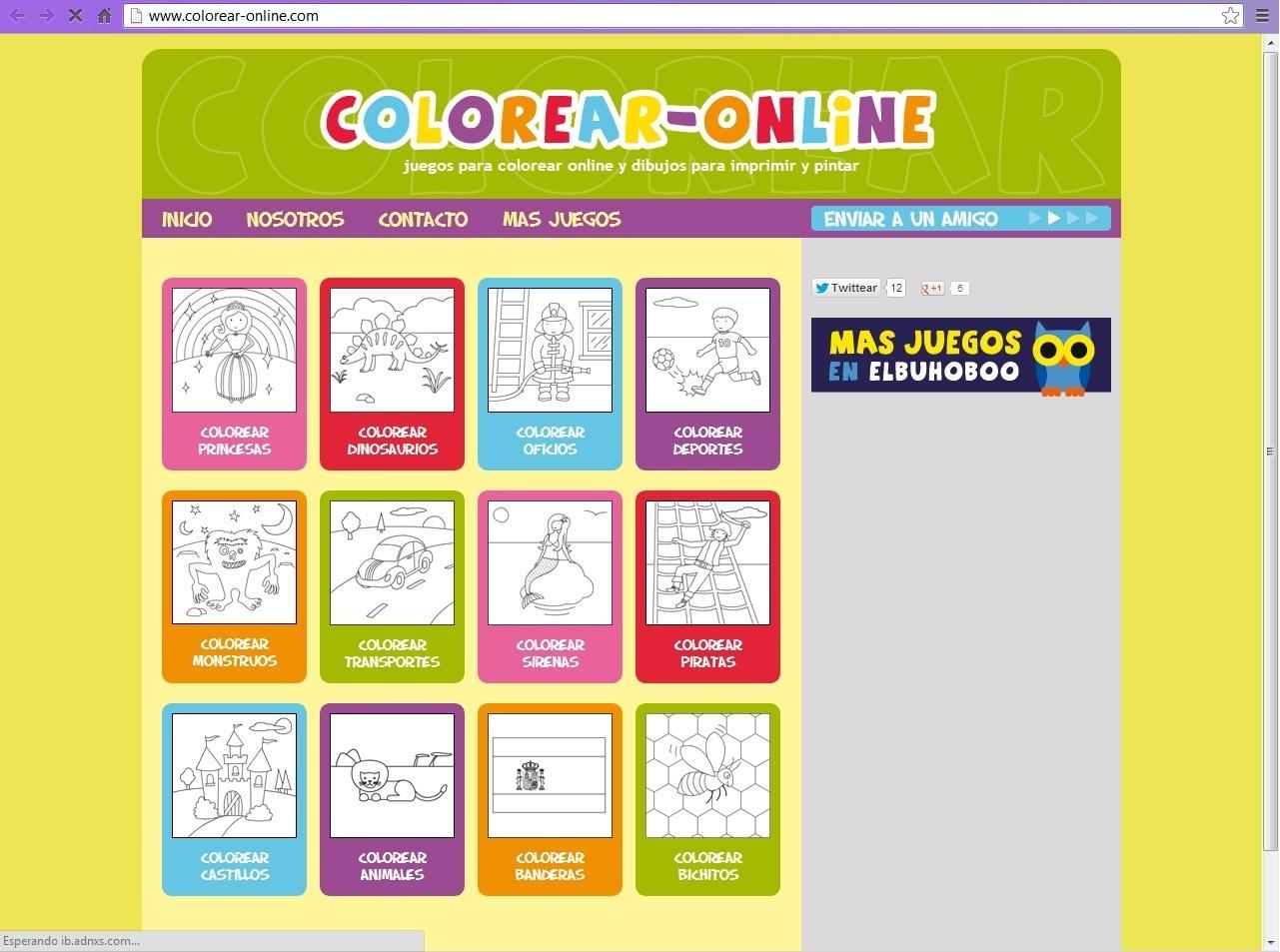 COLOREAR ONLINE: juegos para colorear online y