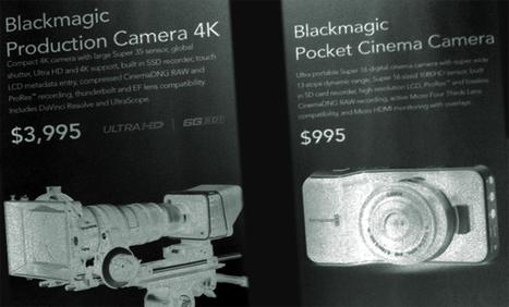 Blackmagic Goes 4K with S35 Global Shutter Sensor for $4K, and a Pocket Cinema Camera for $1K. By Robert Hardy | Film & Cinema | Scoop.it