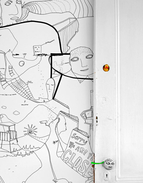 "Shantell Martin's Illustrated Apartment in Brooklyn. | yellowtrace blog » | ""Life Without Art Is Stupid"" 