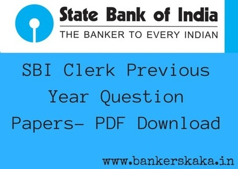 Sbi Clerk Previous Papers Questions Pdf