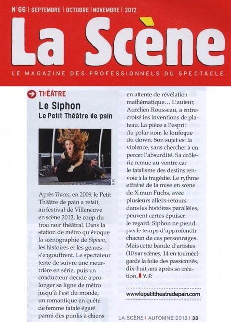 Article sur Le Siphon paru dans le n°66 de la Scène | LE SIPHON | Scoop.it