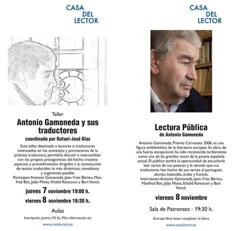 GAMONEDA, Taller y Lectura Pública, Jueves 7 y Viernes 8 de Noviembre de 2013, Madrid. | MARATÓN DE CITAS | Scoop.it