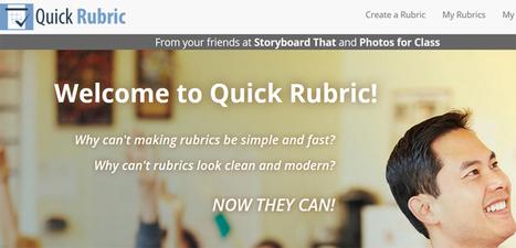 Crea rúbricas en línea con Quick Rubric | Experiencias educativas en las aulas del siglo XXI | Scoop.it