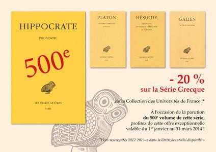 Offre exceptionnelle sur toute la Série grecque : -20% /Librairie Guillaume Budé, Les Belles Lettres | Classical Geek | Scoop.it