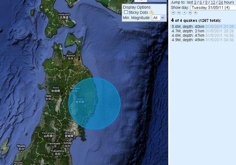 [séismes] Forte secousse à proximité de Kamaishi au nord du Japon | Japan Quake Map | Japon : séisme, tsunami & conséquences | Scoop.it