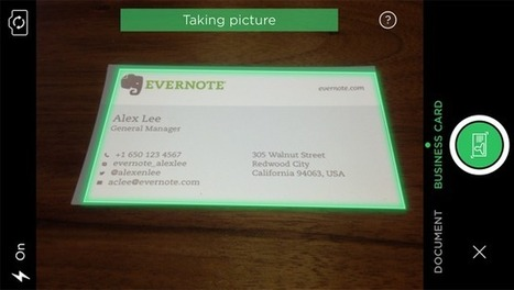 Evernote And LinkedIn Launch A New Business Card App For iOS To Organize Your Contacts | Leave Those Kids Alone! | Scoop.it