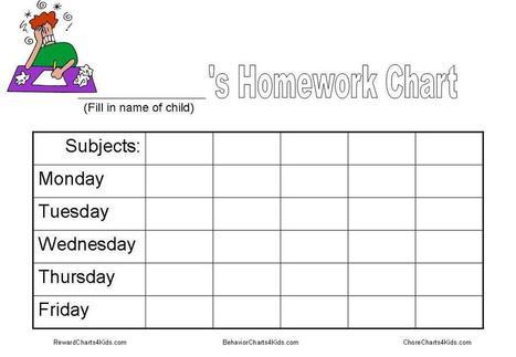 how to make a homework reward chart
