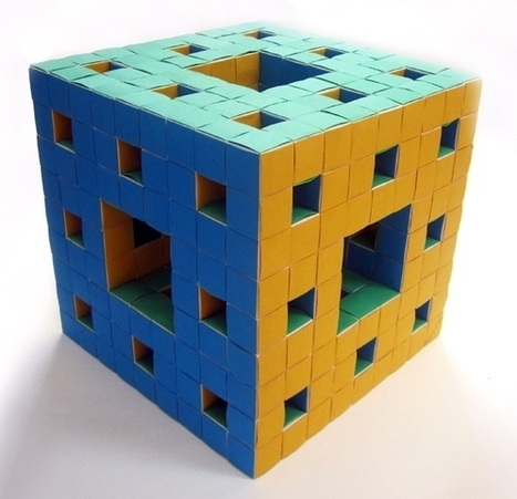 Menger Sponge Fractal Unit | Made with (and of) Paper | Scoop.it