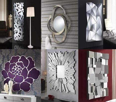 espejos de diseo moderno hermosos originales y muy decorativos mil ideas de decoracin