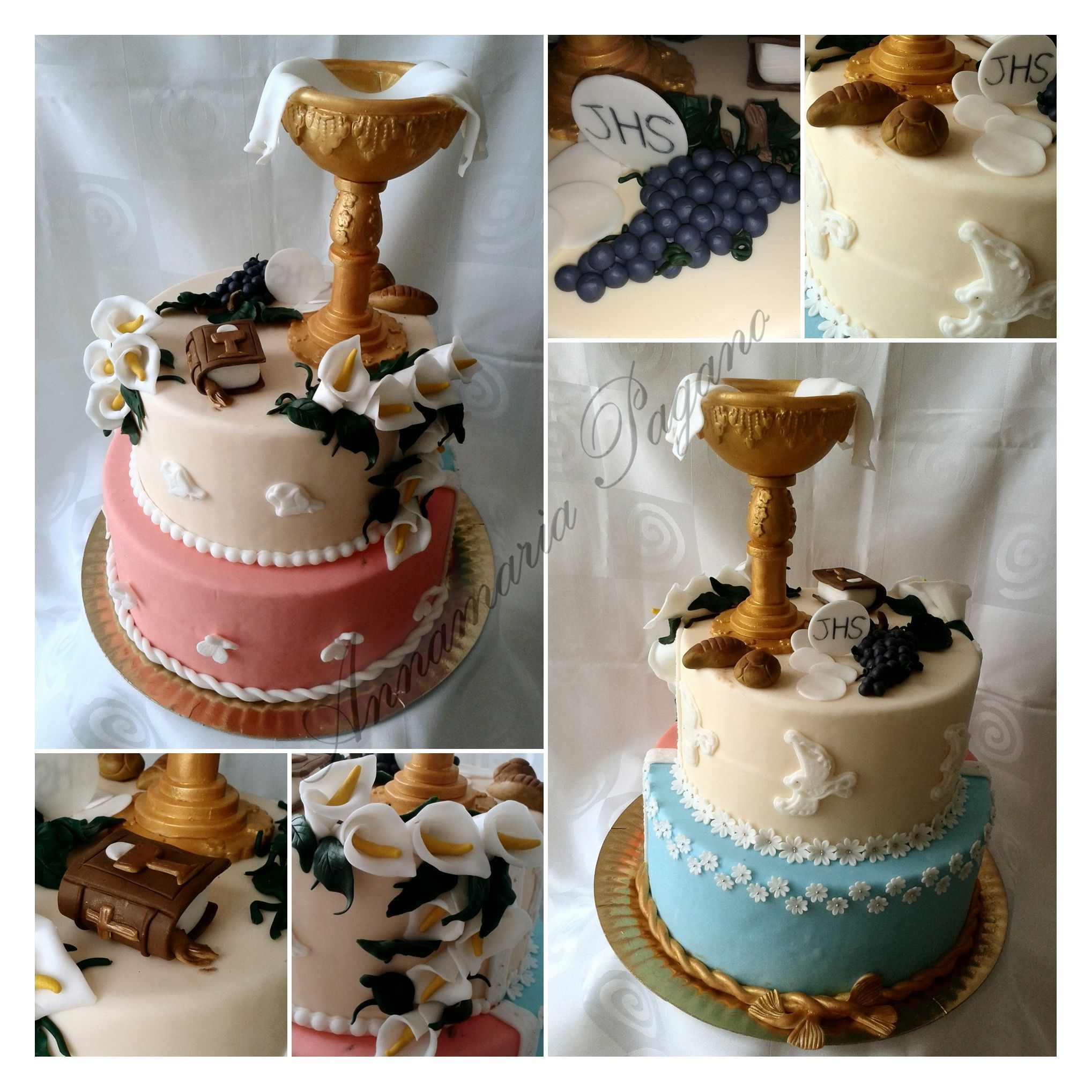 Un calice da prima comunione cake design e for Decorazione torte prima comunione