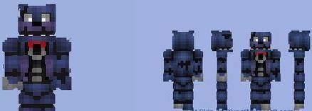 Nightmare Bonnie FNAF Skin Minecraft Mods - Skins para minecraft pe bonnie