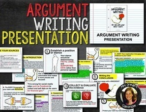 Argument Writing Presentation | Common Core Resources for ELA Teachers | Scoop.it