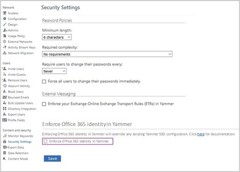 Enforcing Office 365 identity in Yammer now available - Office Blogs | Nova Tech Consulting S.r.l. | Scoop.it