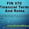 HELP FOR FIN 370 Week 1
