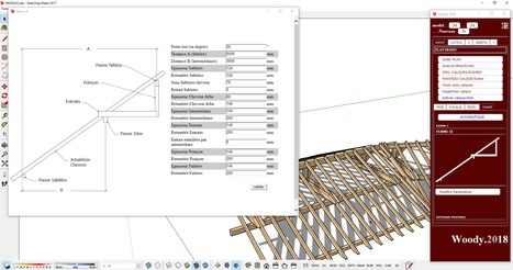 woody 2018 004 disponible demain aprs midi crer son ossature bois grce sketchup - Plan Maison Google Sketchup