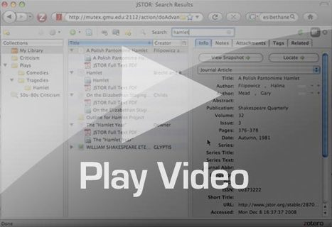 Zotero Citation Manager | Study Research Inspiration & Ideas | Scoop.it