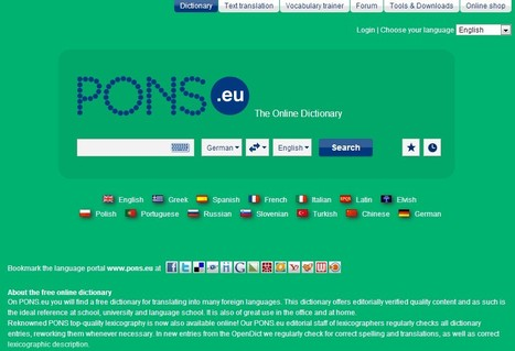 PONS Dictionary, German Spelling and Text Translation | lärresurser | Scoop.it