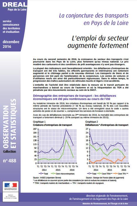 DREAL > Conjoncture des transports : l'emploi du secteur augmente fortement   Observer les Pays de la Loire   Scoop.it