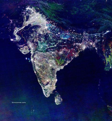 Satellite Image of India on Diwali 2010 | Visions aériennes | Scoop.it