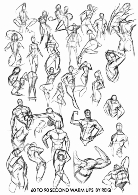 pose reference guide in drawing references and resources