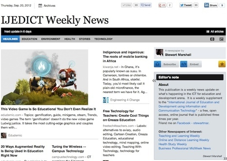 Sept 20 - IJEDICT Weekly News is out | Studying Teaching and Learning | Scoop.it