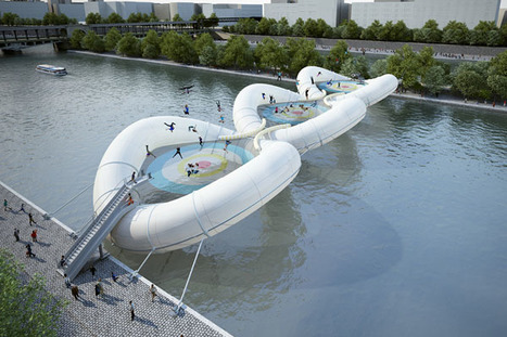 Contemporary bridge design at the Seine river in Paris by Atelier Zündel Cristea | What Surrounds You | Scoop.it