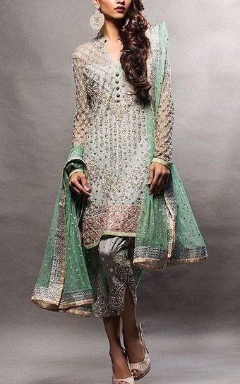 72c1494668 Various styles used in Pakistani Designer Party Dresses- 786Shop.com | Buy  Pakistani Clothing