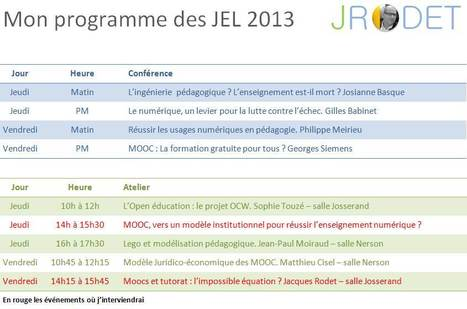 JEL 2013 : mon programme | Site professionnel de Jacques Rodet | Scoop.it