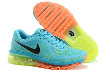 info for cf048 951d8 Nike Air Max 2014 Gamma Blue Black Total Orange Volt for Sale