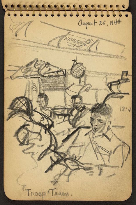 21-Year Old WWII Soldier's Sketchbooks Reveal a Visual Diary of His Experiences | Explore & document the World | Scoop.it